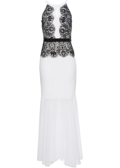 Večerní šaty černo-bílá - BODYFLIRT boutique objednat online ... 38ddb84bdb