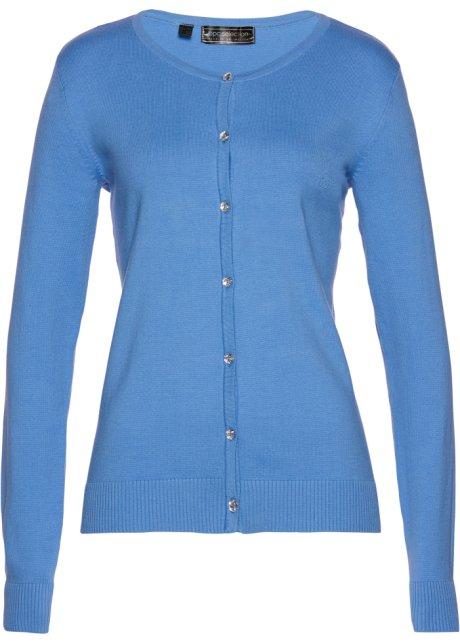 Pletený kabátek středně modrá - bpc selection - bonprix.cz e208ee6561
