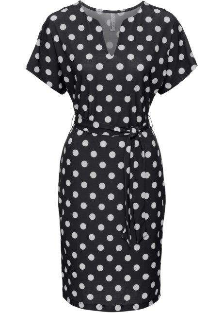 Šaty s puntíky černo-bílá s puntíky - Žena - BODYFLIRT boutique ... e831c95d6e