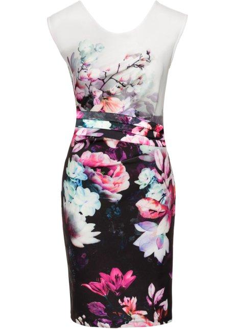 214b055d55fc Květované šaty černo-bílá s květy - BODYFLIRT boutique objednat ...