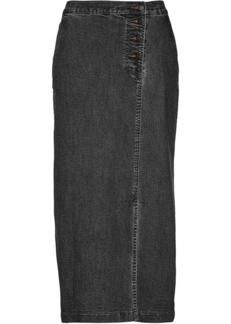 3e0d0480cea Džínová sukně černá stone - bpc selection objednat online - bonprix.cz