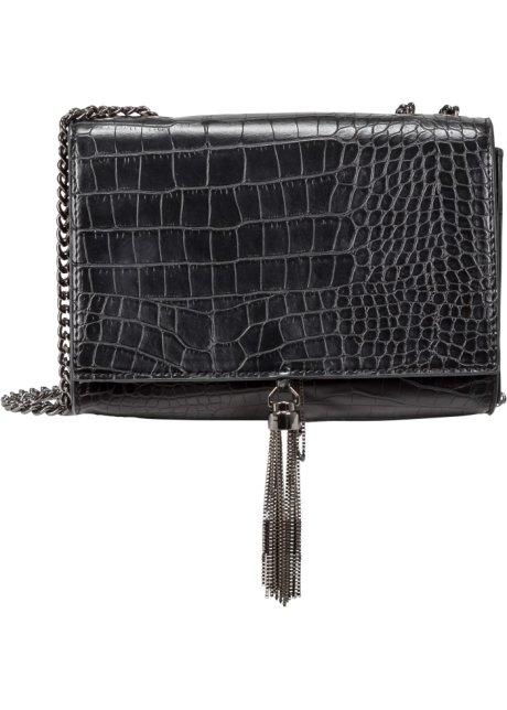 8b7dd9ab08 Malá kabelka s hadím vzorem černá - Žena - bpc bonprix collection ...
