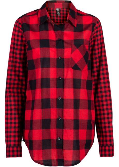 Kostkovaná košile červeno-černá kostkovaná - RAINBOW koupit online ... 04f4b94957