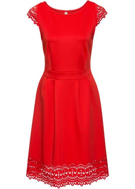 85bd23802e Šaty s průstřihy světle červená - BODYFLIRT boutique objednat online ...