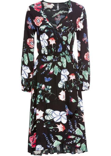 ba1afe38af36 Zavinovací šaty černá s květy - RAINBOW objednat online - bonprix.cz