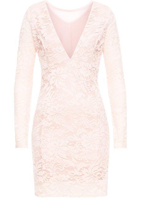 Večerní šaty s krajkou světle růžová - BODYFLIRT boutique koupit ... c4d1958488