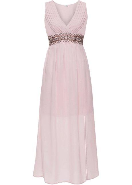 6c441bcec1d5 Večerní šaty s aplikací růžová - BODYFLIRT objednat online - bonprix.cz