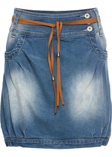 8416a0b2410b Džínová sukně s páskem modrá stone - RAINBOW objednat online ...