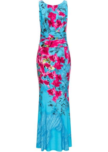 Šaty s květinovým potiskem modrá s květy - BODYFLIRT boutique ... 15e3eb5395