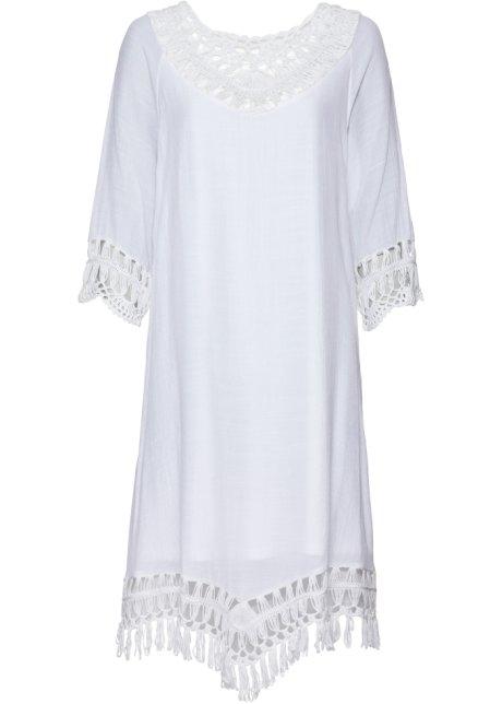 Háčkované šaty bílá - BODYFLIRT boutique - bonprix.cz 0d75157427