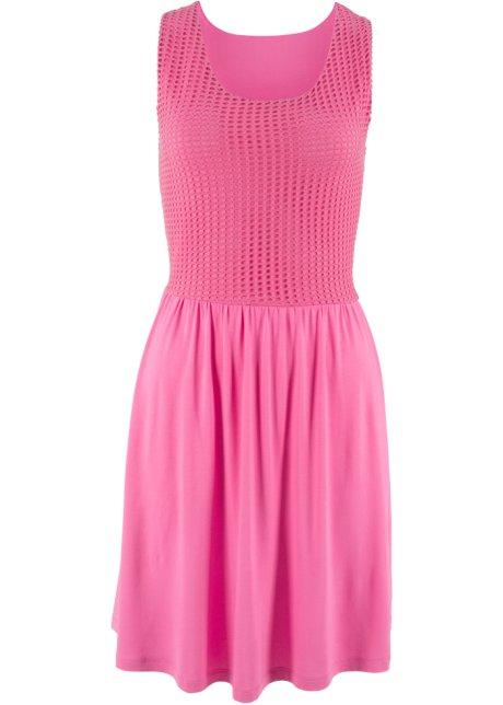 Šaty s krajkou plaměňáková pink - Žena - bpc bonprix collection ... feeaafdd7a