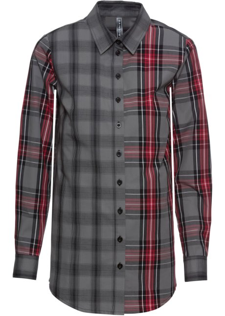 Kostkovaná košile červeno-černá kostka - Žena - bonprix.cz b7c44e697c