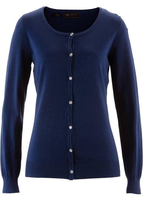 Pletený kabátek tmavě modrá - bpc selection koupit online - bonprix.cz 33f7abe182