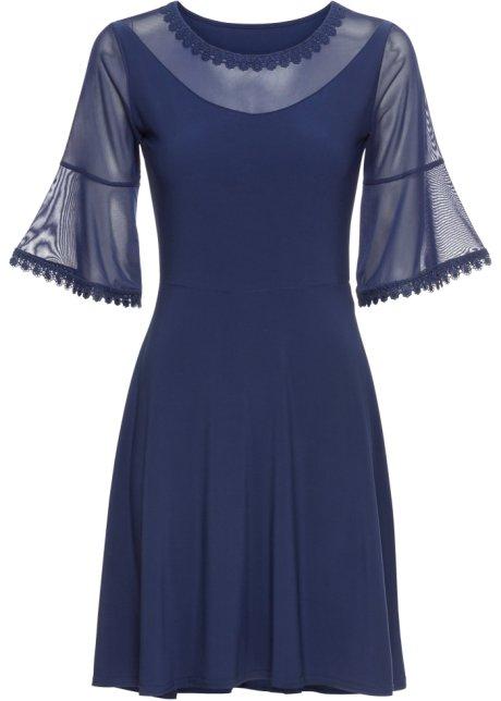 Šaty se síťovinou půlnoční modrá - BODYFLIRT objednat online ... d16e41e0a9