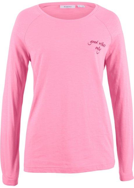 Triko s dlouhým rukávem a potiskem matně pink s potiskem - Žena ... 6ff8079ea1