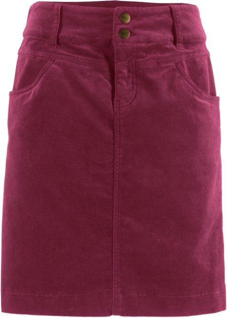 8c969985f73 Strečová manšestrová sukně rododendronově červená - Žena - bpc ...