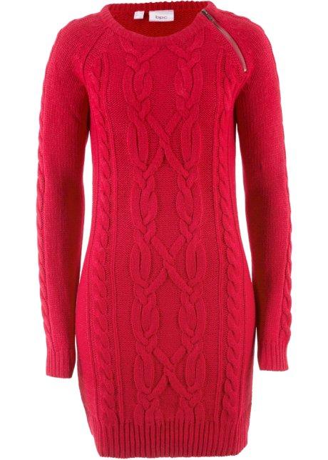 7ddf0aa22424 Pletené šaty červená - Žena - bpc bonprix collection - bonprix.cz