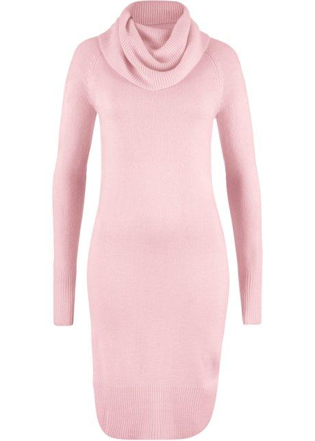 153c56c6753c Pletené šaty s tzv. vodou jemně růžová - bpc bonprix collection ...