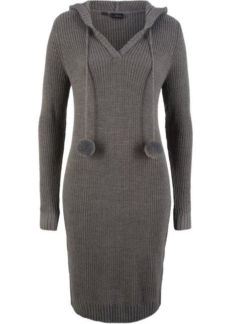 19423bb632c5 Pletené šaty šedý melír - Žena - bonprix.cz