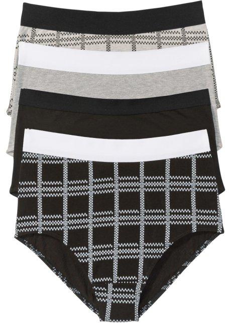 Vysoké kalhotky z organické bavlny (4 ks v balení) černo-světle šedý ... 539e92db6c