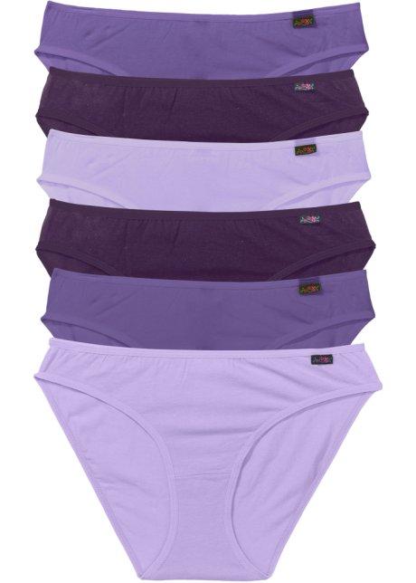 Kalhotky (6 ks v balení) fialová + šeříková + tmavě fialová - Žena ... 76ddaa71fb