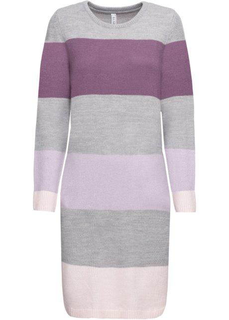 Pletený svetr s kapsami fialová s pruhy - RAINBOW - bonprix.cz 9e7d10400d