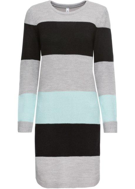 Pletený svetr s kapsami černé pruhy - RAINBOW - bonprix.cz dd97afe0b8