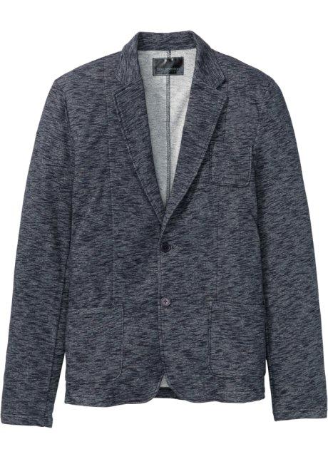 01f20d7177 Mikinové sako Slim Fit tmavě modrý melír - Muž - bpc selection ...