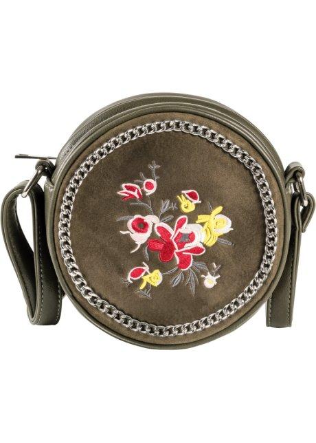 Kabelka s výšivkou olivová - bpc bonprix collection objednat online ... e6ef871a8b7