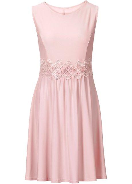 6ad095097ade Šaty s krajkovou vsadkou růžová vintage - BODYFLIRT objednat online ...