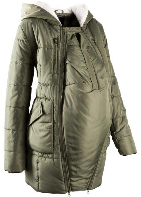 Těhotenská a nosící bunda s podšívkou olivová - Žena - bpc bonprix ... 0504257bc11