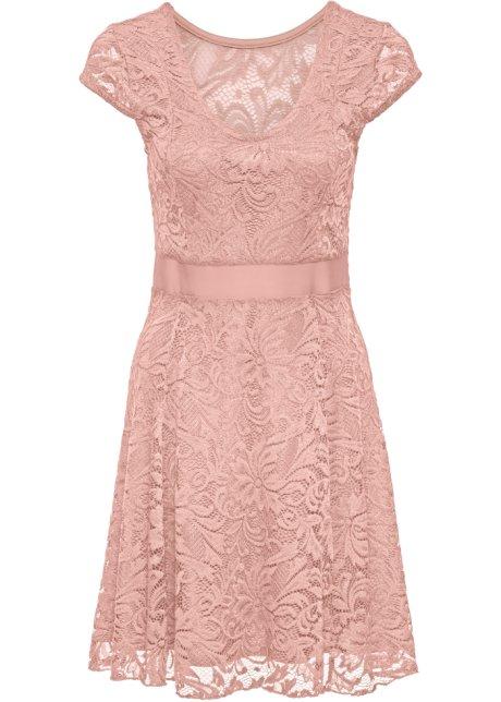 95fb1981f8fb Žerzejové šaty s krajkou růžová vintage - BODYFLIRT koupit online ...