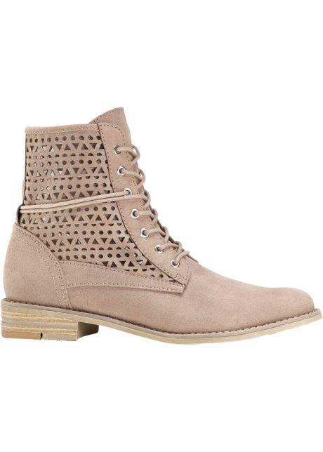 Kotníčková obuv na zavazování hnědošedá - bpc bonprix collection ... 6663294fc7