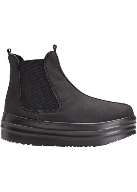 52dfe2538761 Kotníčková obuv na platformě černá - Žena - bonprix.cz