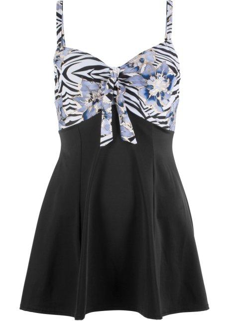 2dd9ba9b37d5 Plavkové šaty s kosticemi světle modro-černá - Žena - bpc selection ...