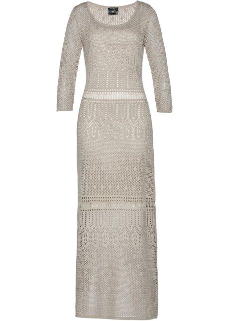 eb89a1330d35 Ažurové šaty šedobéžová - bpc selection premium objednat online ...