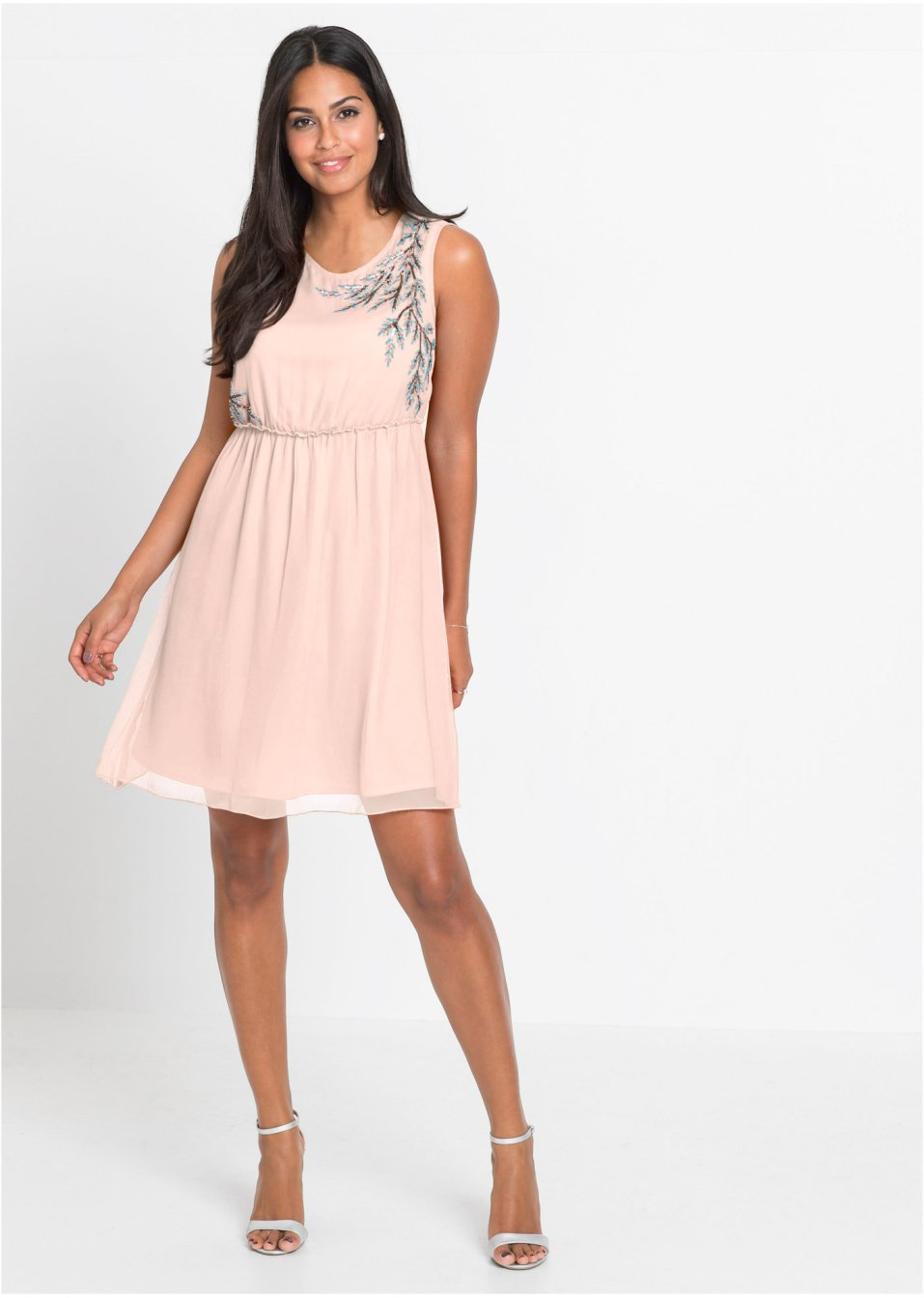 Šaty s perličkovou aplikací růžová - BODYFLIRT objednat online - bonprix.cz 5cc4f55fd5