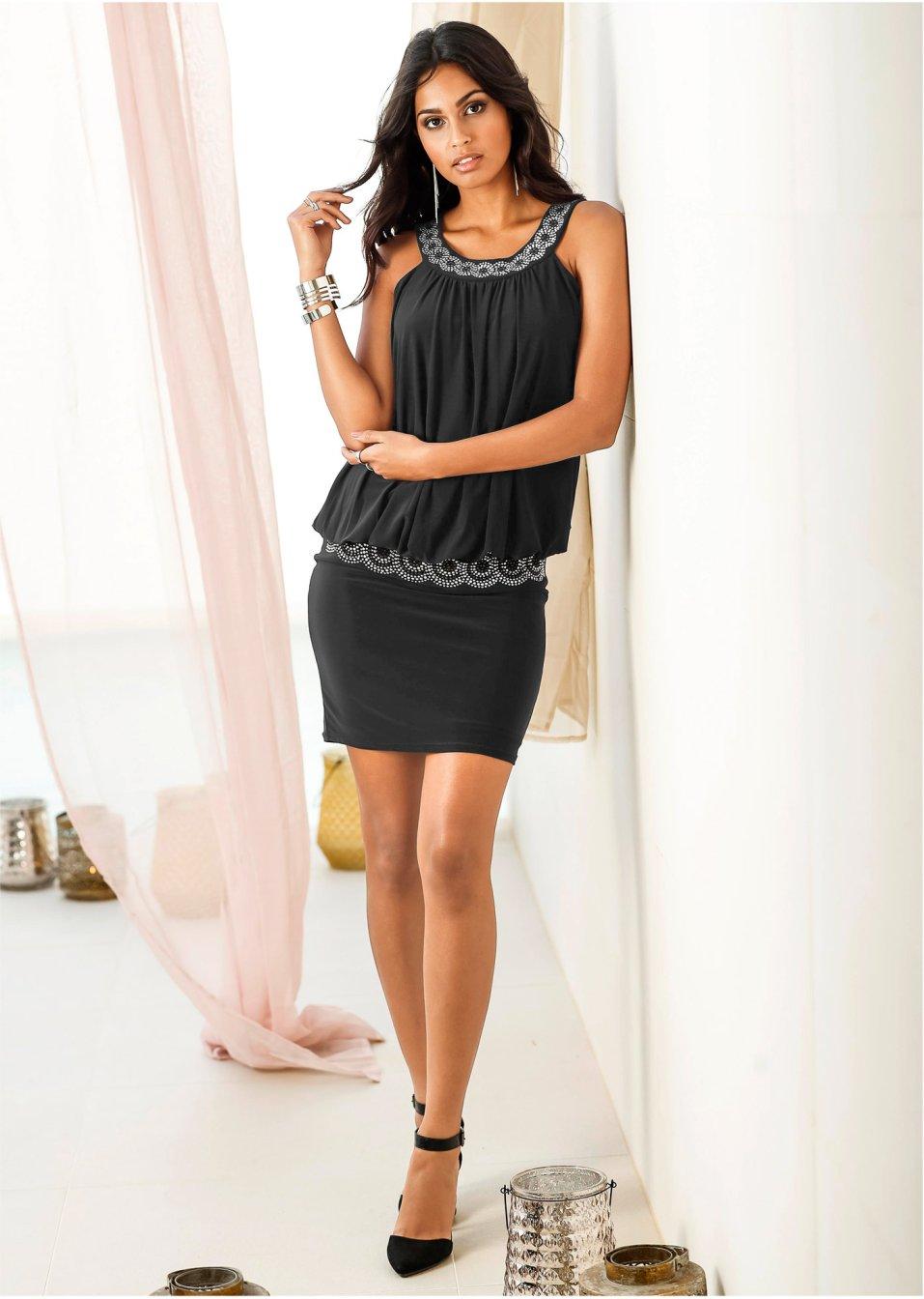 Koktejlové šaty černá - BODYFLIRT koupit online - bonprix.cz 8c41e861de