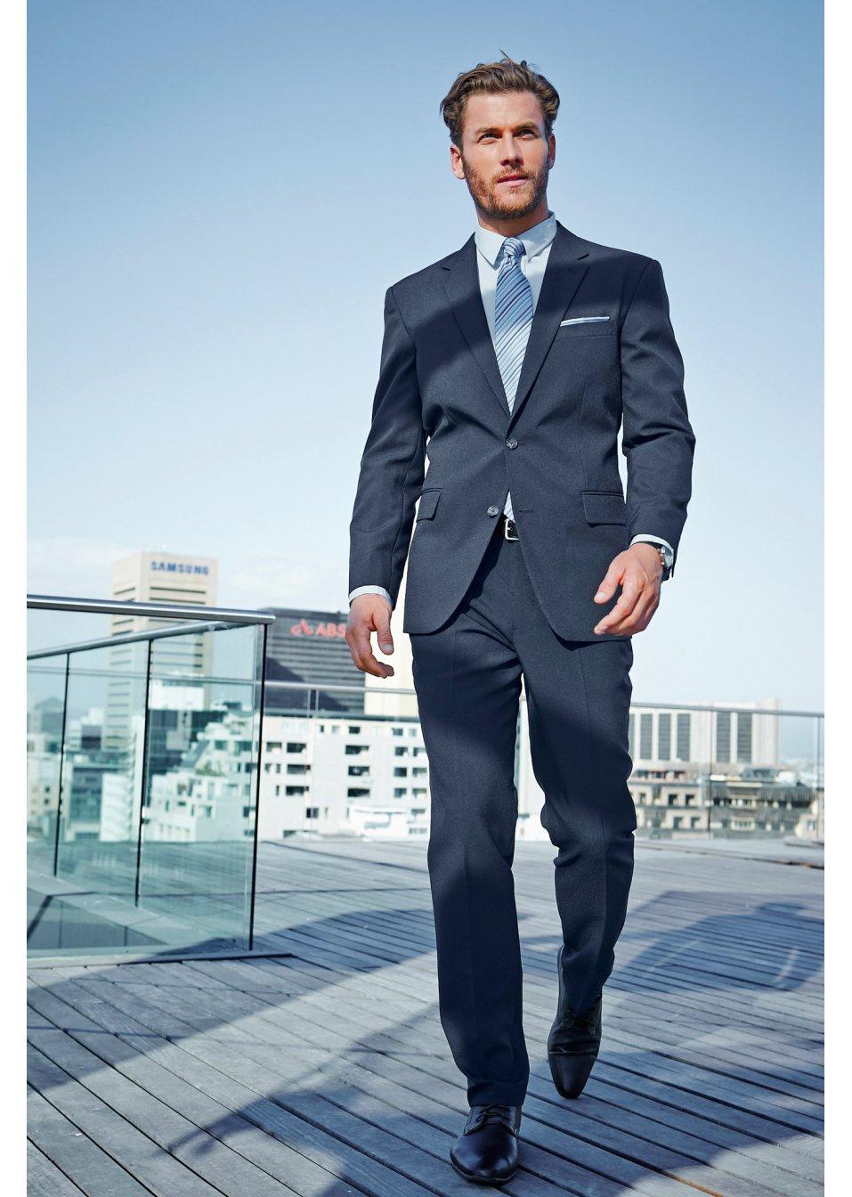 Oblek (2dílná souprava) Regular Fit světle šedá se vzorem - bpc selection  objednat online - bonprix.cz 82d0098c26