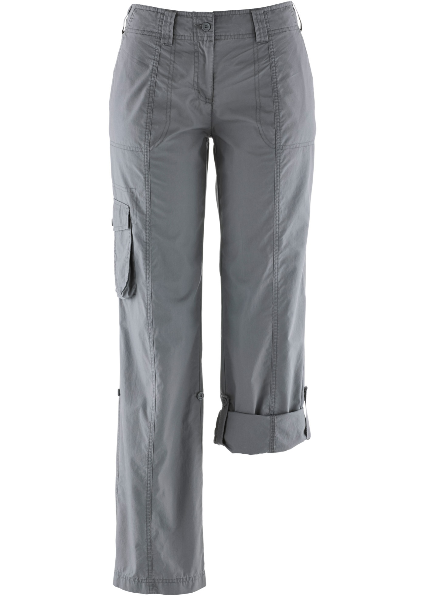 Ohrnovací kargo kalhoty - Šedá