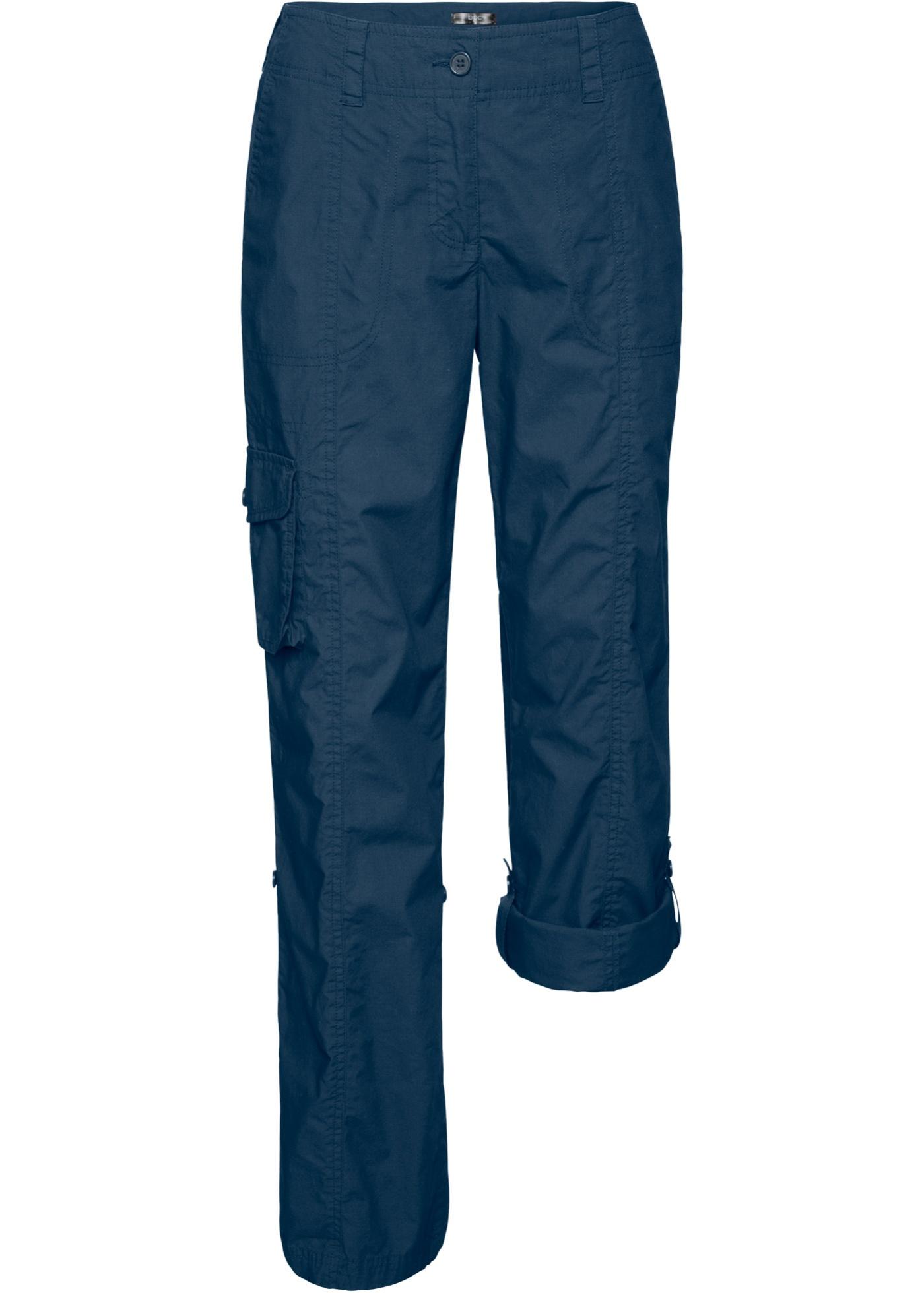 Ohrnovací kargo kalhoty - Modrá