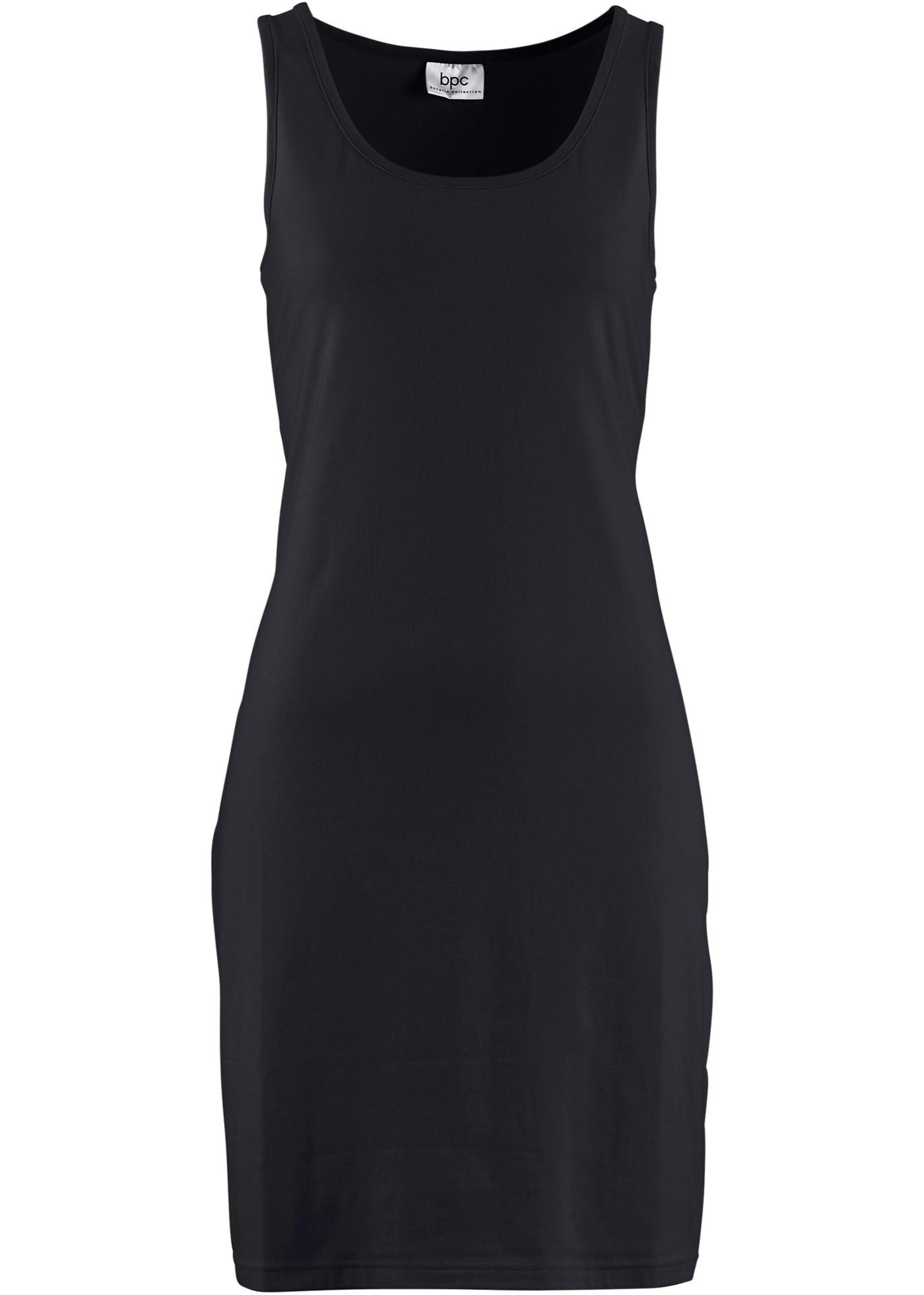 Strečové šaty - Černá