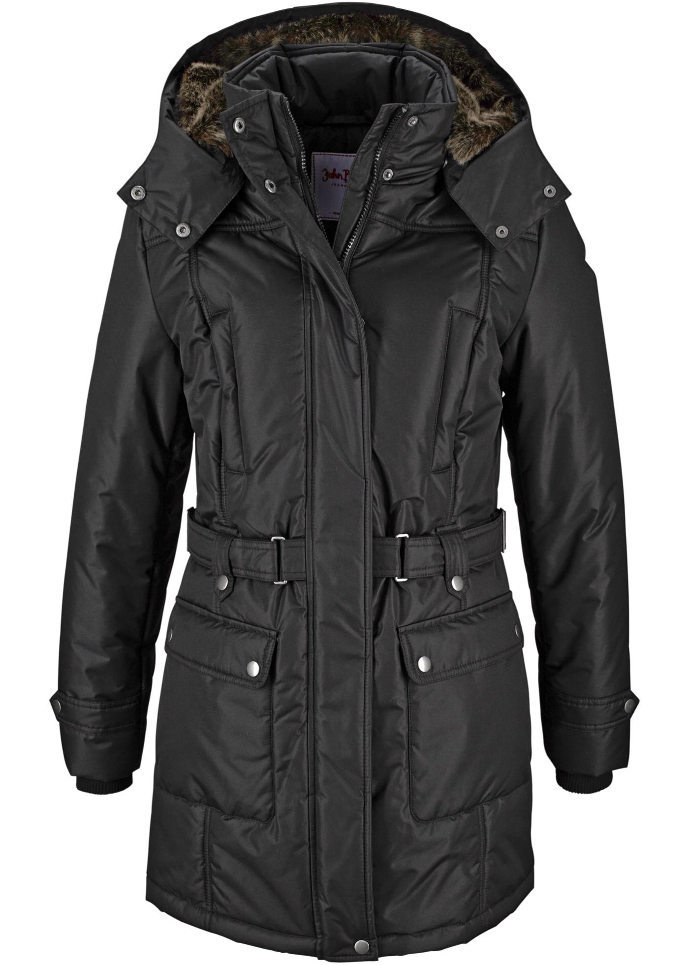 Zimní kabát - Černá