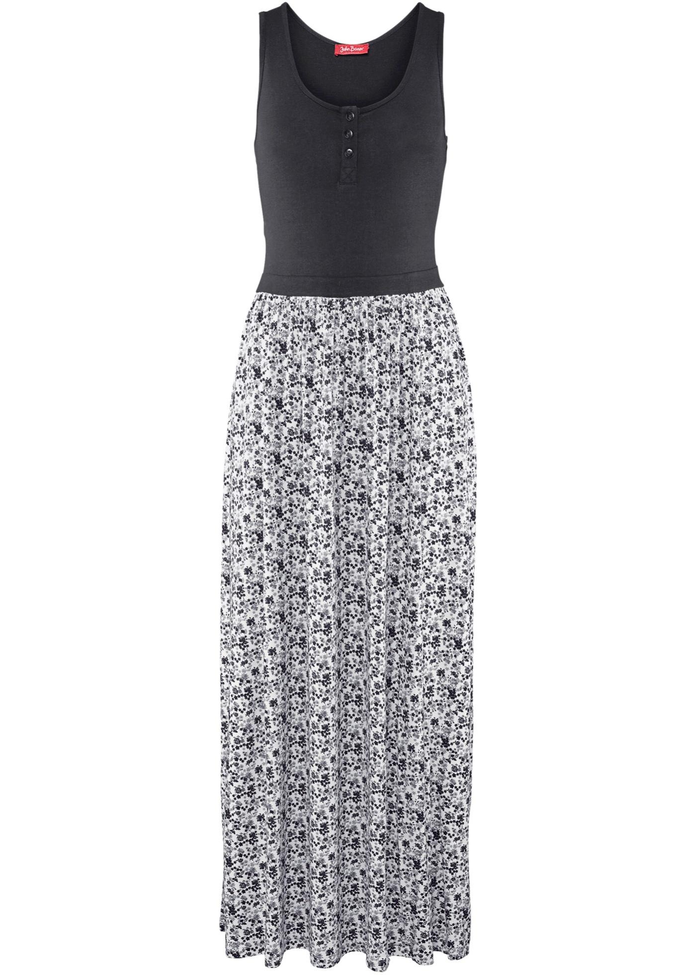 Dlouhé úpletové šaty - Černá 56698bbfcd