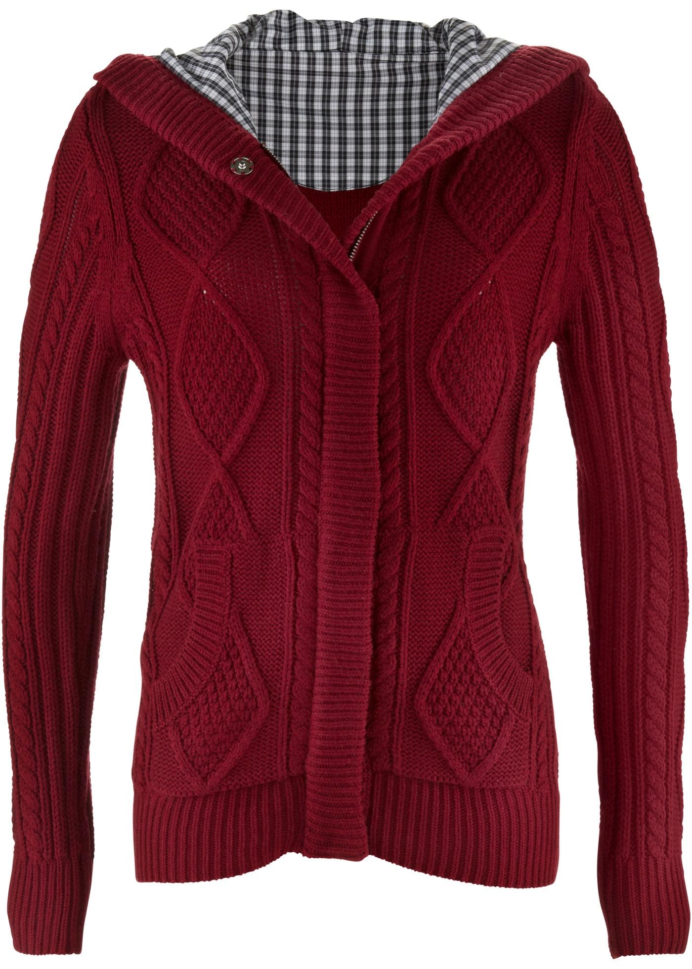 Pletený kabátek - Červená