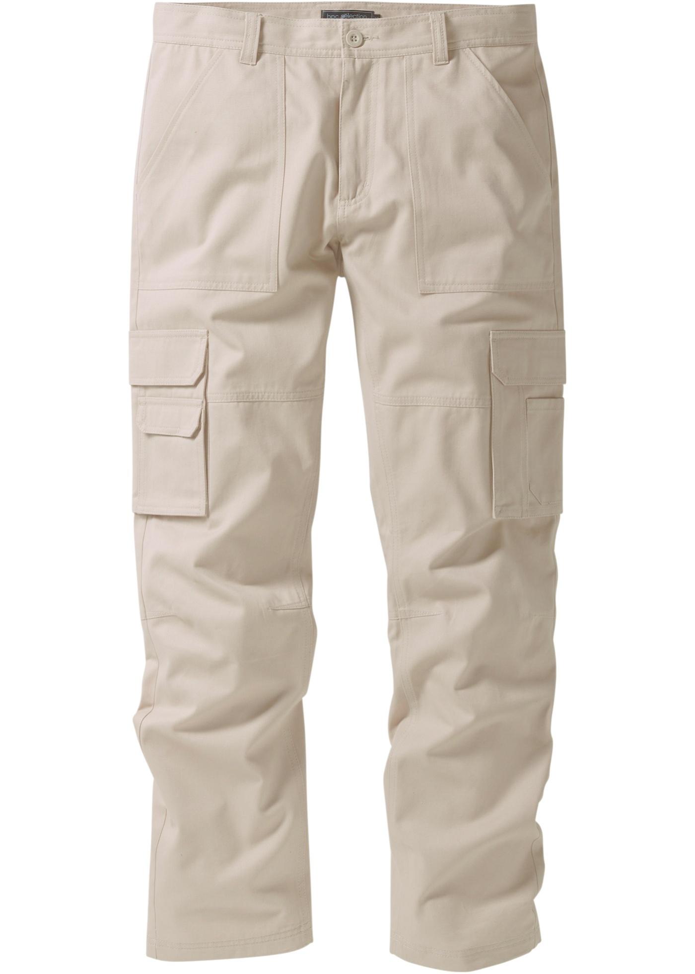 Kargo kalhoty Regular Fit Straight - Béžová