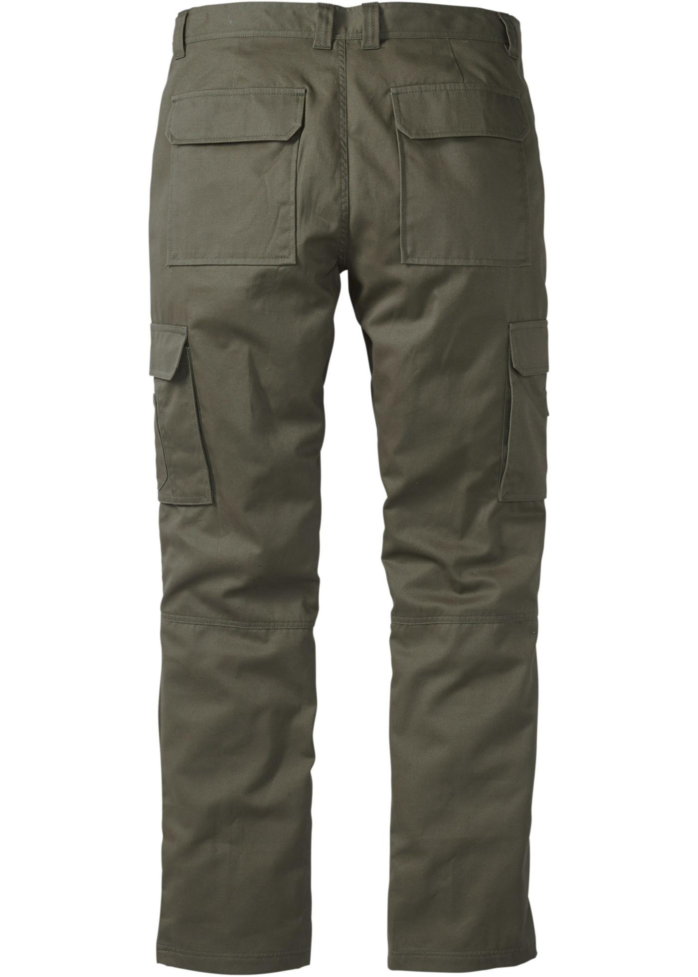 Kargo kalhoty Regular Fit Straight - Zelená