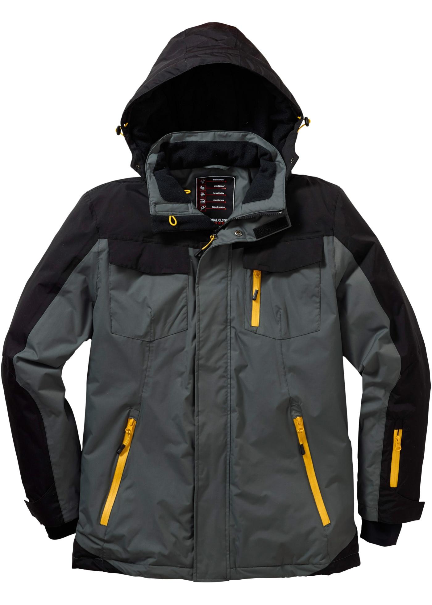 Funkční zimní bunda Regular Fit - Šedá