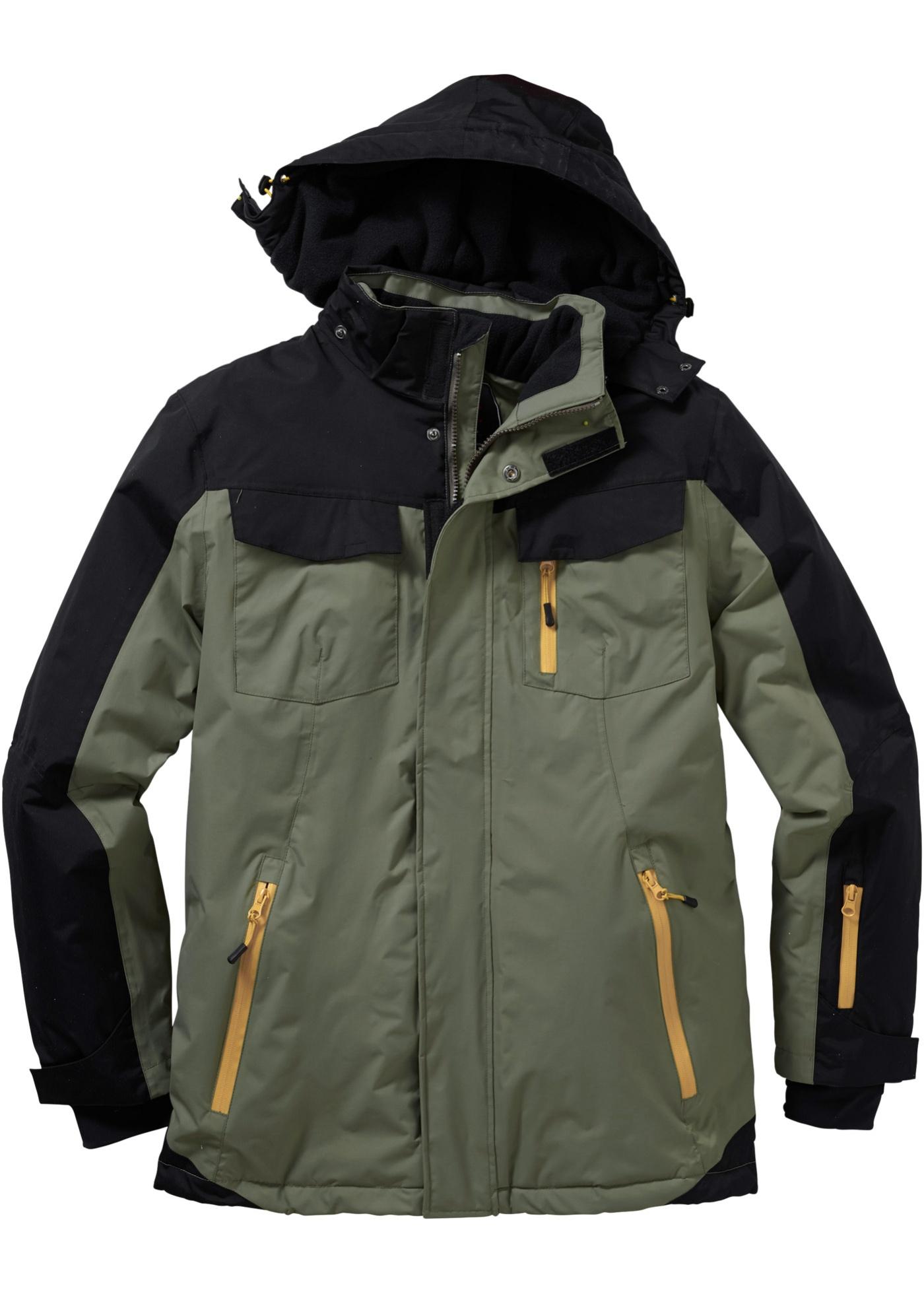 Funkční zimní bunda Regular Fit - Zelená
