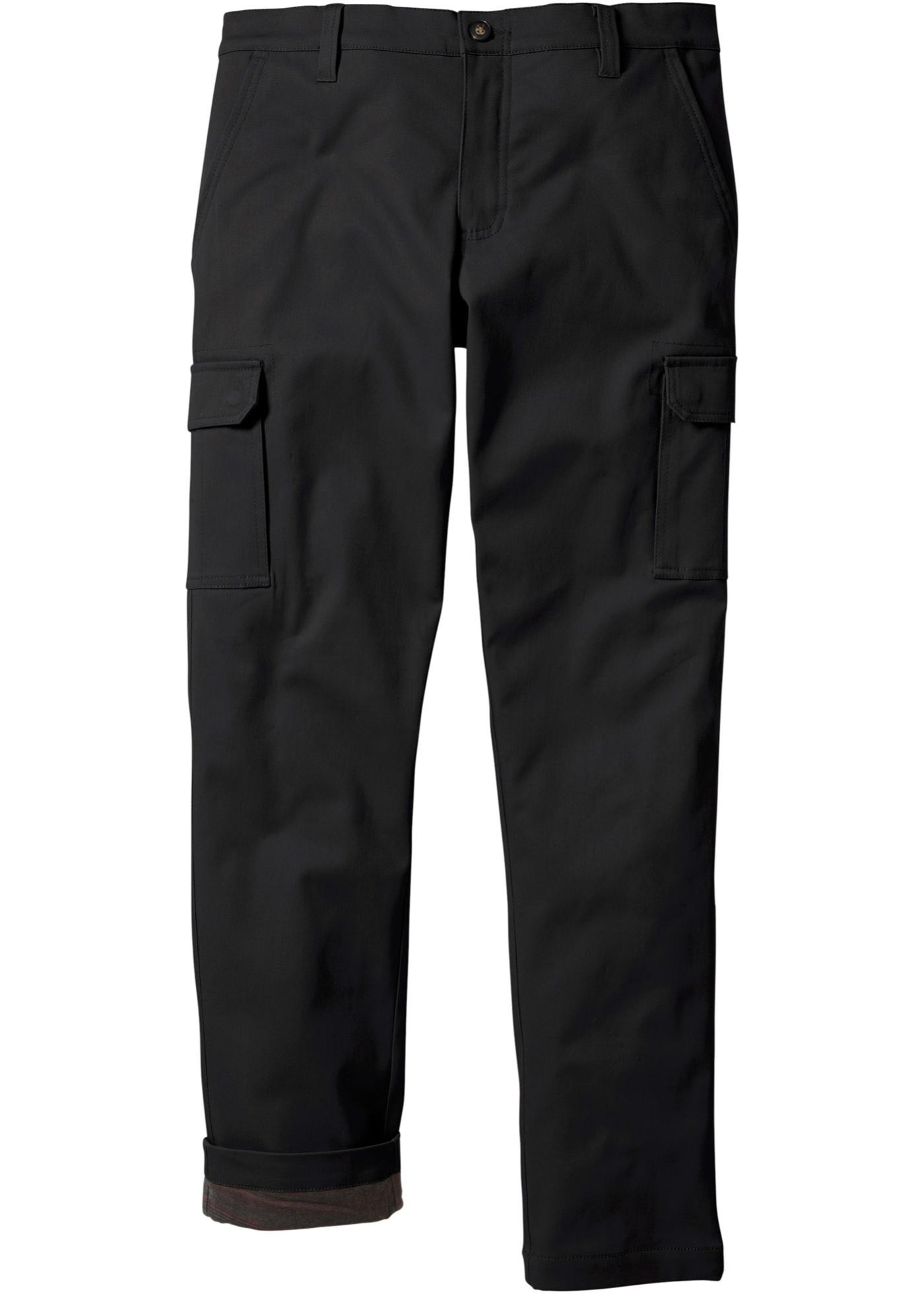 Termo kargo-kalhoty - Černá